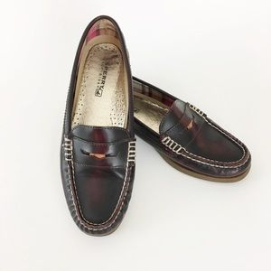 Sperry Penny Loafers Hayden Cordovan Size 8